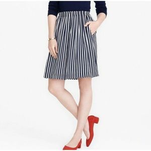 J. Crew Mercantile Size 4 Blue Stripe Midi Skirt